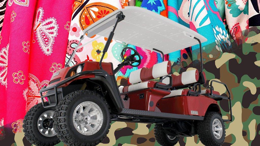 golf cart colors fabrics